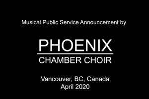 Vancouver Phoenix Chamber Choir - Billy Joel Longest Time Quarantine Edition: Click to expand