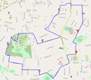 Guy Fawkes Day Run Map: Click to enlarge