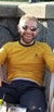 The Hare in a Star Trek Original Series command uniform: Click to enlarge