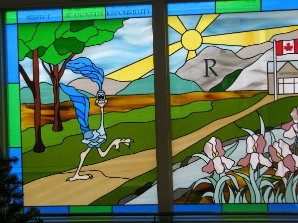 Reynold's Roadrunner Stained Glass: Click to enlarge